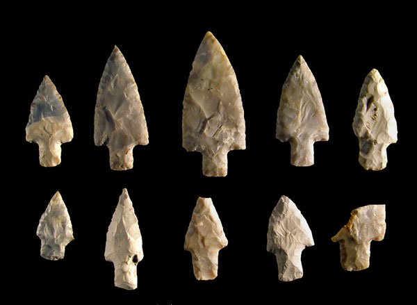 Adena Points from Glenford Fort, Courtesy of Richard Moats