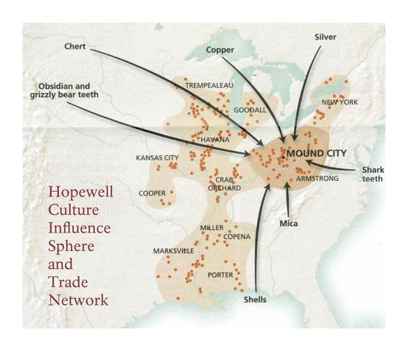 Hopewell Trade Routes