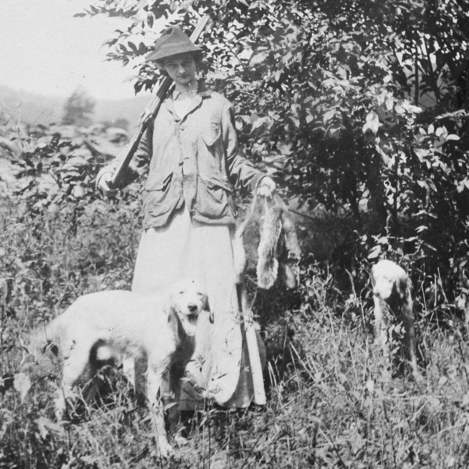 Gladys Riley hunting squirrels as a young woman.