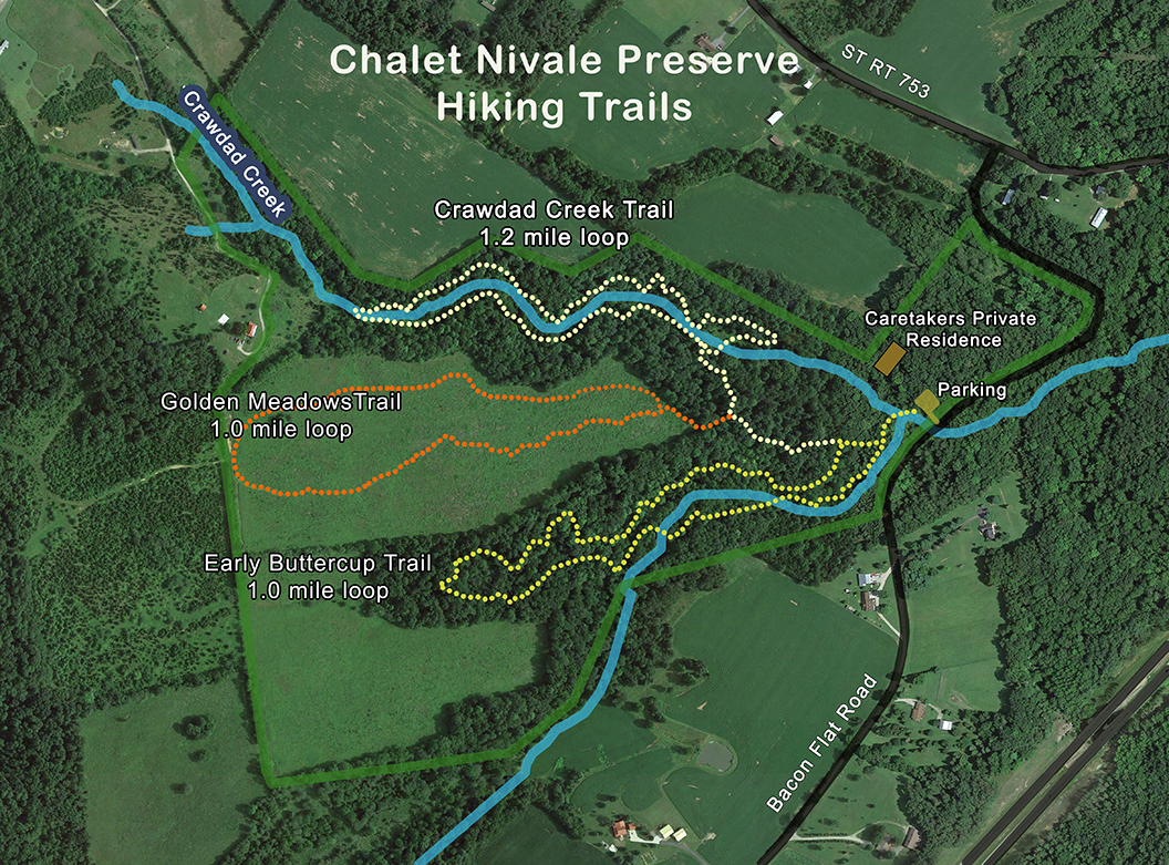 Chalet Nivale Trail Map