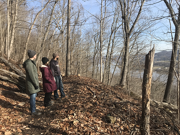 Arc staff linger on the ridgetop of Red Trillium Trail